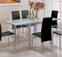 Coaster Dining Room Table in Pearl Silver Metal w/ Frosted Glass Top