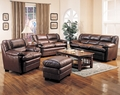 Coaster Harper 4 Piece Sofa Set in Rich Brown Leather