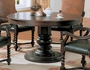 Coaster Harrelson Round Dining Room Table in Dark Walnut