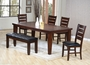 "Coaster Imperial 6 Piece Dining Room Set w/ 18"" Leaf in Rustic Oak"
