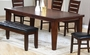 "Coaster Imperial Dining Room Table w/ 18"" Leaf in Rustic Oak"