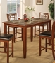 Coaster Jonesboro Counter Height Dining Table w/ Marble Top in Cherry