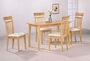 Coaster Las Olas 5 Piece Dining Set in Light Maple Finish