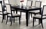 "Coaster Lexton Dining Room Table w/ 18"" Leaf - Distressed  Black"