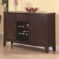 Coaster Memphis Cappuccino Server with Wine Rack