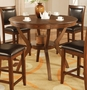 Coaster Nelms Round Counter Height Table in Walnut Finish