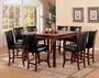 Coaster Newhouse 5 Piece Counter Height Dining Set in Cherry