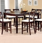 Coaster Pryor Counter Height Dining Room Table in Cappuccino