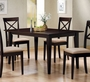 Coaster Rectangular Dining Table in Rich Cappuccino