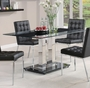 Coaster Rolien Black Glass Top Dining Table