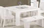 Global Furniture Huntington Dining Table in White