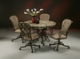 Pastel Magnolia Caster 5 Piece Dining Room Set