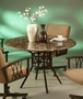 Pastel Ravenwood Marble Top Dining Room Table