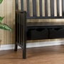 SEI 3-Drawer Black Country Bench