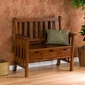 SEI 3-Drawer Oak Country Bench