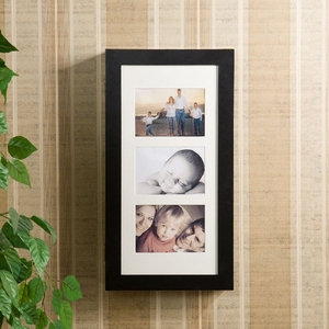 SEI Photo Display Wall-Mount Black Jewelry Armoire