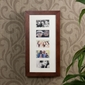 SEI Photo Display Wall-Mount Cherry Jewelry Armoire