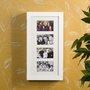 SEI Photo Display Wall-Mount White Jewelry Armoire