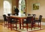 US Furniture 5 Piece Counter Height Marble Top Dining Set