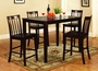 US Furniture 5 Piece Solid Wood Pub Table Set
