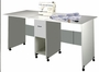 Venture Horizon Craft Table with Drawer in White