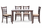 Wholesale Interiors Cathy 5 Piece Brown Wood Dining Set