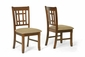 Wholesale Interiors Megan Brown Wood Modern Dining Chair - Set of 2