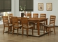 Wholesale Interiors Taylor 7 Piece Modern Dining Set in Brown Wood