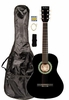 """36"""" Inch 3/4 Scale Size Black Student Beginner Acoustic Guitar with Carrying Case & Accessories & DirectlyCheap(TM) Translucent Blue Medium Guitar Pick (A-PRO Series)"""