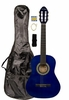 """36"""" Inch 3/4 Scale Size Blue Student Beginner Acoustic Guitar with Carrying Case & Accessories & DirectlyCheap(TM) Translucent Blue Medium Guitar Pick (A-PRO Series)"""