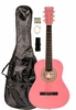 """36"""" Inch 3/4 Scale Size Pink Student Beginner Acoustic Guitar with Carrying Case & Accessories & DirectlyCheap(TM) Translucent Blue Medium Guitar Pick (A-PRO Series)"""