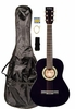 """36"""" Inch 3/4 Scale Size Purple Student Beginner Acoustic Guitar with Carrying Case & Accessories & DirectlyCheap(TM) Translucent Blue Medium Guitar Pick (A-PRO Series)"""