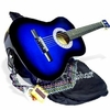 "38"" Navy Blue Acoustic Guitar Starter Package, Guitar, Gig Bag, Strap, Pitch Pipe & DirectlyCheap(TM) Translucent Blue Medium Guitar Pick (AC38-DB) [Teacher Approved]"