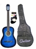 "38"" Student Acoustic BLUE Guitar Starter Package, Guitar, Gig Bag, Strap, & DirectlyCheap(TM) Translucent Blue Medium Guitar Pick (LBU-AG38)"