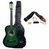 "Beginner 38"" Green Acoustic Guitar with Accessories"
