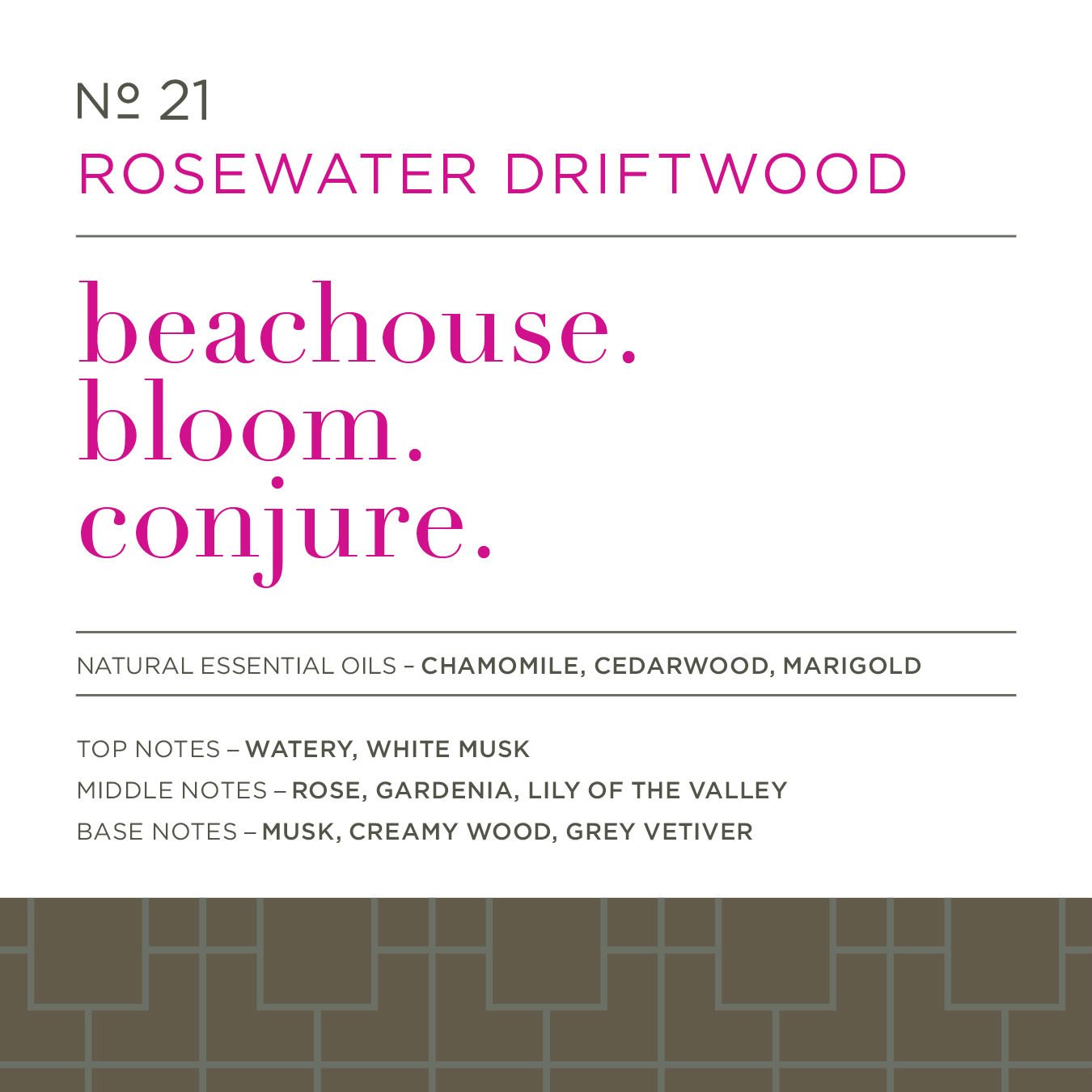 21 Rosewater Driftwood 16 oz. Countertop Spray by Caldrea