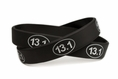 13.1 Half Marathon Training Rubber Wristband - Youth 7""