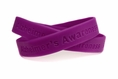 """Alzheimer's Awareness"" Purple Rubber Bracelet Wristband - Adult 8"""