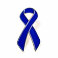 Blue Ribbon Lapel Pin