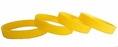 Cure Childhood Cancer Gold Rubber Wristband - Adult 8""
