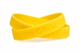 Cure Childhood Cancer Gold Rubber Wristband - Youth 7""