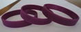 End Domestic Violence purple wristband - Adult 8""