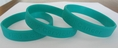 Find a Cure - Cervical Cancer teal wristband - Adult 8""