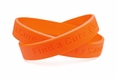 Find a Cure - Kidney Cancer orange wristband - Youth 7""