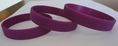 Find a Cure - Pancreatic Cancer  purple wristband - Adult 8""