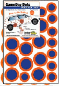 Game Day Dot Magnets - Orange & Blue