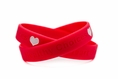 Healthy Choices - Fight Heart Disease wristband - Youth 7""