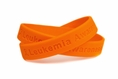 """Leukemia Awareness"" Orange Rubber Bracelet Wristband - Youth 7"""