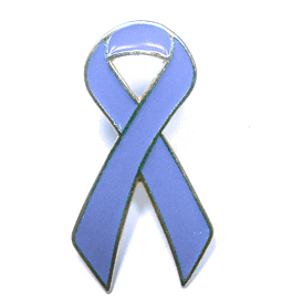 Periwinkle Ribbon Lapel Pin