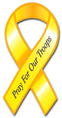 Pray for Our Troops Ribbon Car Magnet - 4